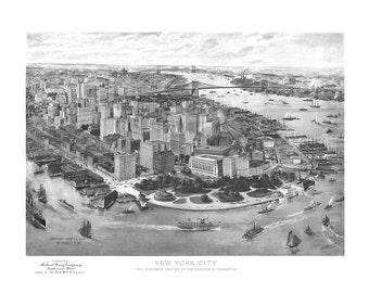 1903 Panoramic View of New York City