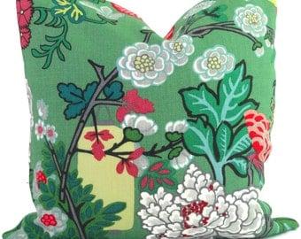 Jade Schumacher Chiang Mai Dragon Pillow Covers 18x18, 20x20 or 22x22  or Lumbar Pillow Made to order pillow cover