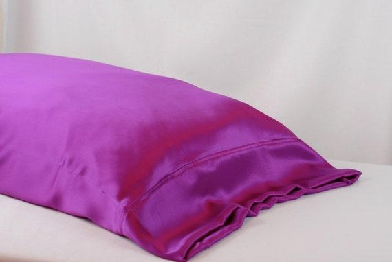 Clearance 100 Pure Silk Pillowcase Fuchsia Charmeuse