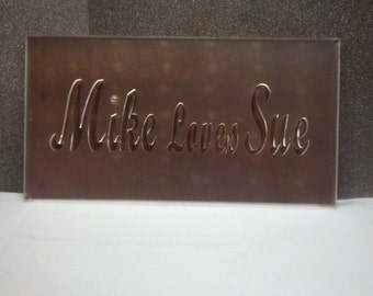 Acrylic Laser Cut Signs Custom Sizes with. Wording and Font Choice
