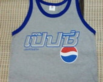 New arrived Pepsi Thailand Tank Top Singlet Sleeveless T-Shirts crop  for Punk Rock Vintage / Running Sport New arrived S/M/L/XL/summer/Yoga