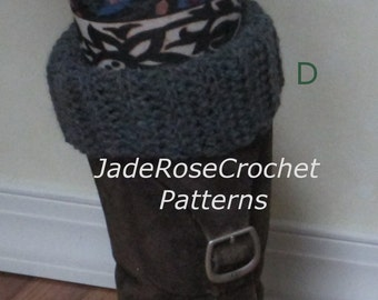 Crochet Boot Cuff Pattern 6 in One, Reversible Boot Cuff Crochet Pattern,  Six Boot Cuff Patterns, Crochet Boot Cuff Patterns, PDF750