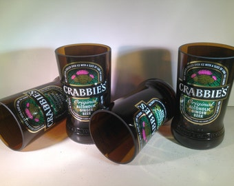 Crabbie's Ginger Beer Recycled Glasses - Set of 4