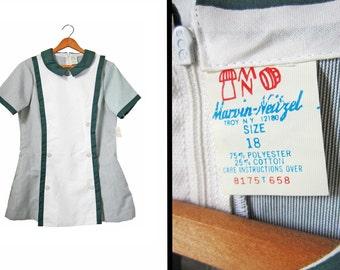 Vintage 60s Nurse Uniform Shirt NOS Marvin-Neitzel Nurse's Blouse Deadstock 60s