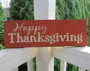 Thanksgiving wood sign - Happy Thanksgiving sign - colors of your choice