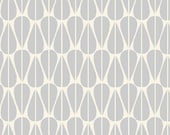 Westwood - Little Leaves Grey Canvas - Organic CANVAS Cotton Fabric from Monaluna