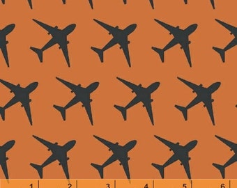 Flyboy - Planes Orange from Windham Fabrics