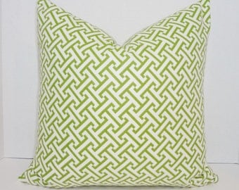 Waverly Green Cross Section Print Pillow Cover Decorative Throw Pillow Green Geometric Choose Size