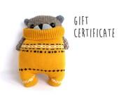 Gift Certificate 45 Dollars, Image Little SockBear