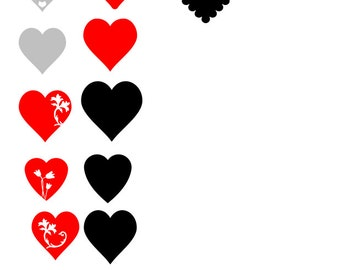 Heart Decoration Collection SVGs and cut files