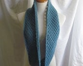 Infinity Scarf Cowl Crochet - Country Blue