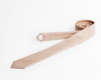 Dusty peach necktie, linen