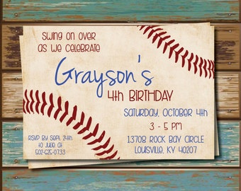DIY - Baseball Party Invitations