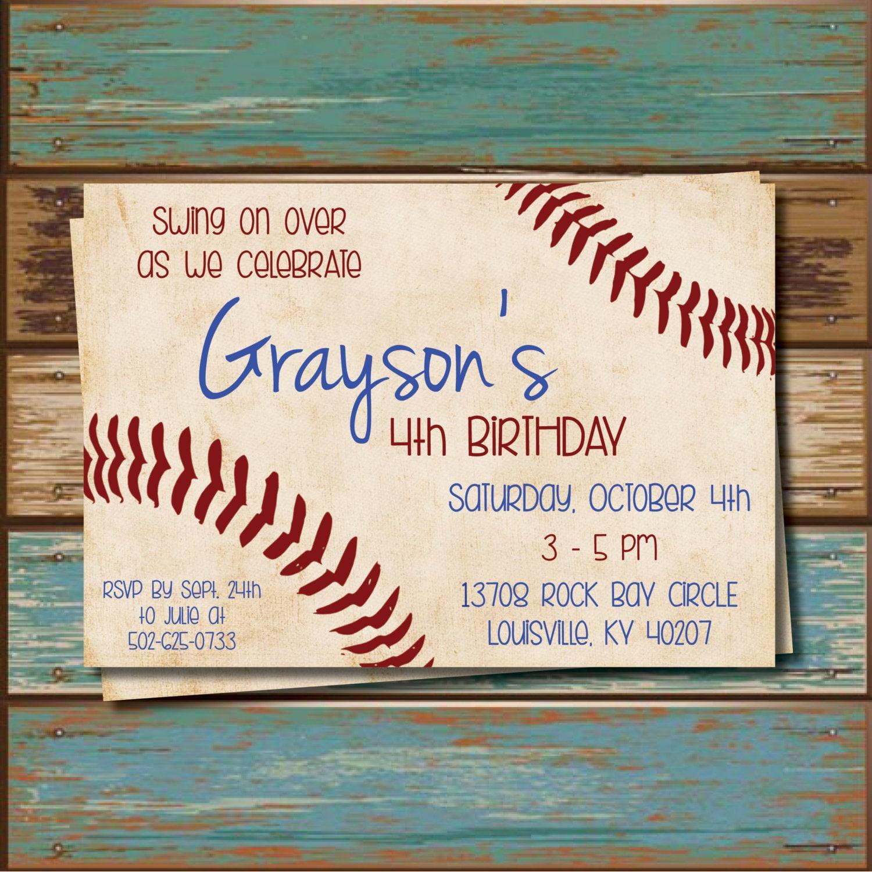 DIY Baseball Party Invitations