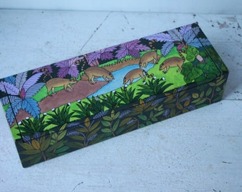 Vintage Hand Painted Box made in Bolivia