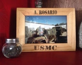 "USMC Personalized Wooden Picture Frame 4""x6"""