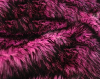 "Husky pink faux Synthetic Fur upholstery Fabric by the yard 60"" wide"