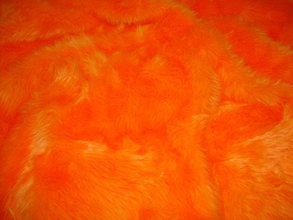 Orange Shag Area Rugs 3' x 5' new premium orange shag fur area rug nursery