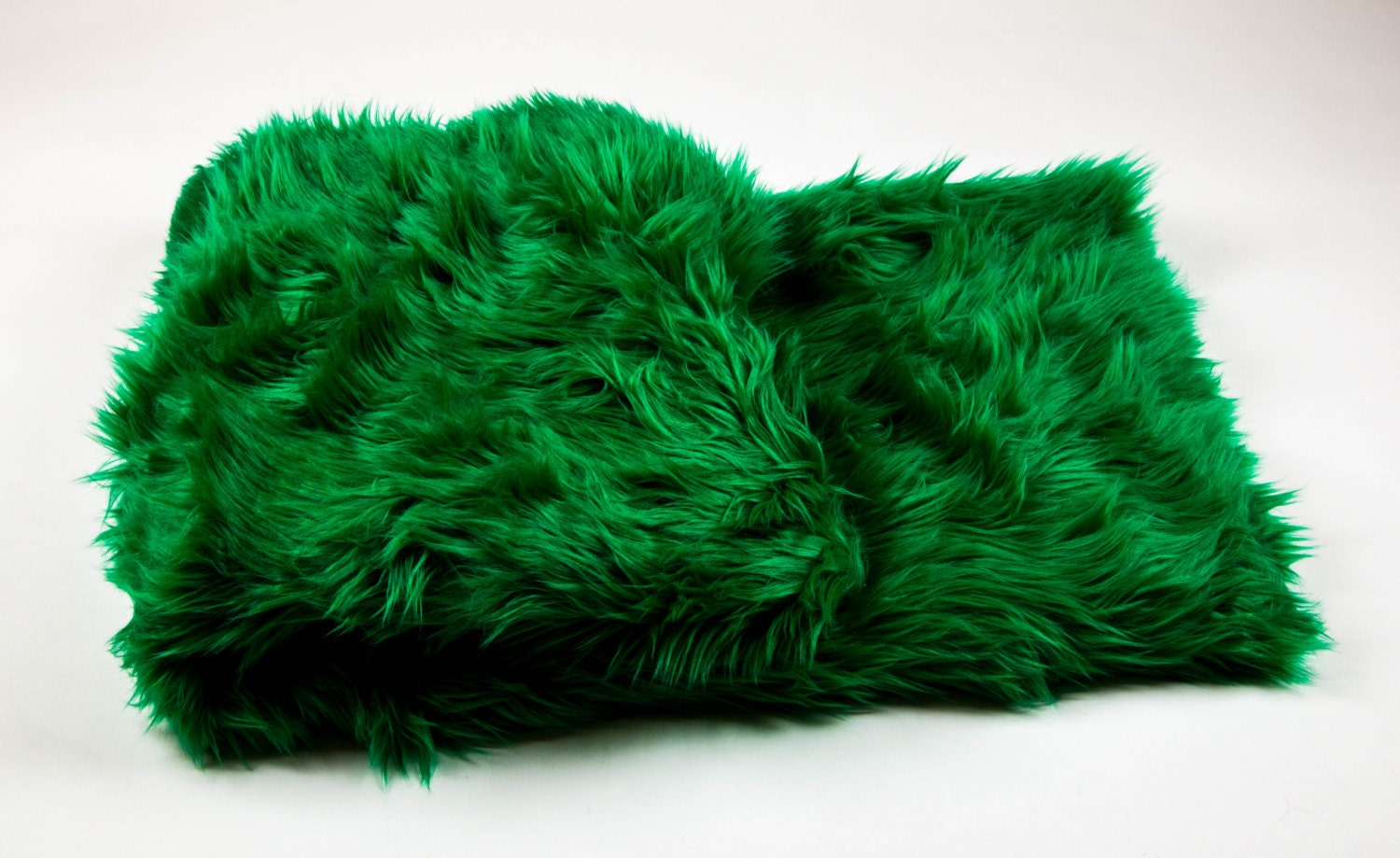 108 X 60 Green Faux Fur Shaggy Throw Blanket Bed