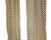 CLEARANCE Chevron Curtains- Pair of Drapery Panels- Premier Prints Brown Zig Zag Curtains- 50W x 84L inch Drapes- Window Treatments