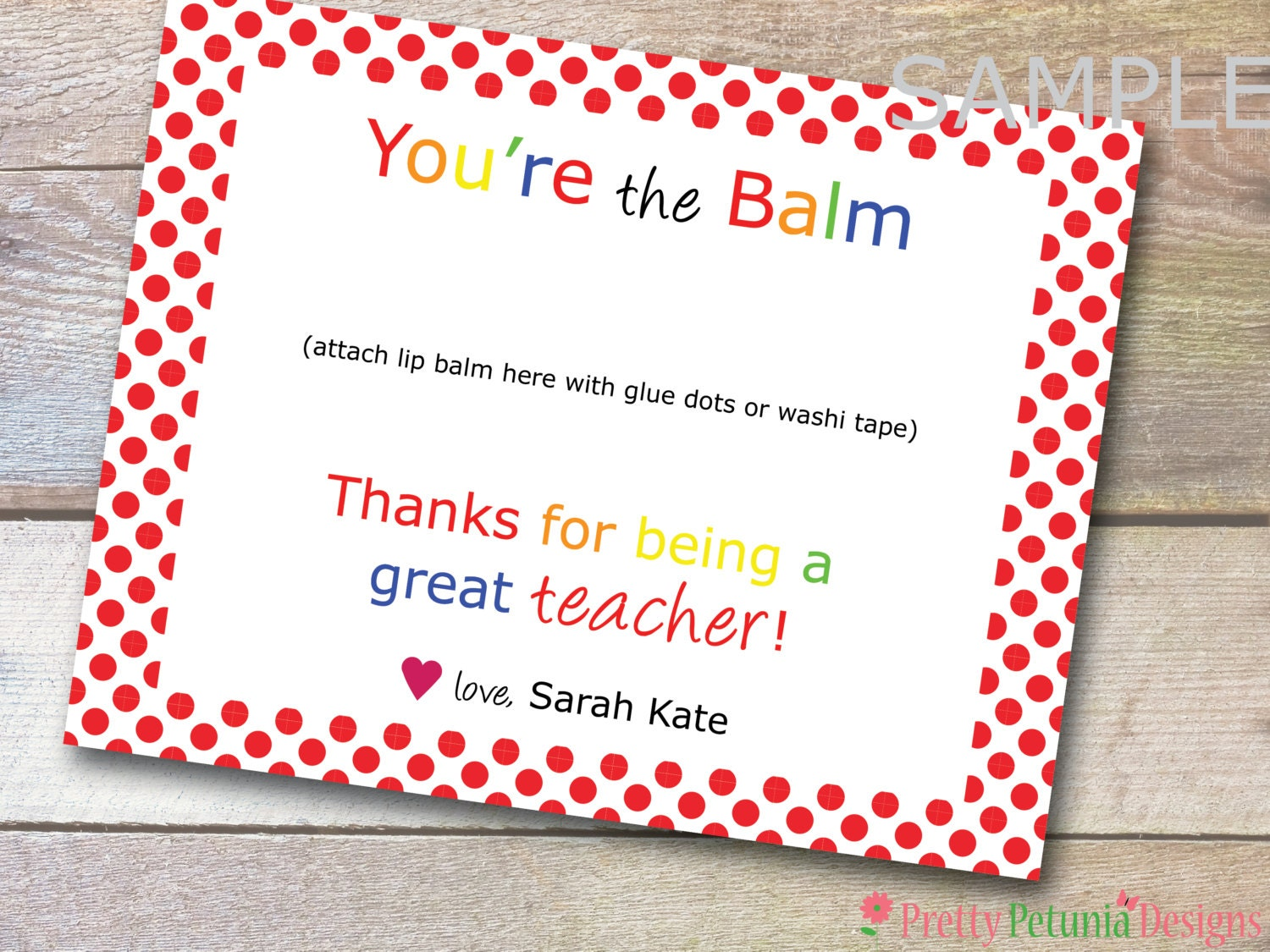 This is a photo of Sly You're the Balm Printable