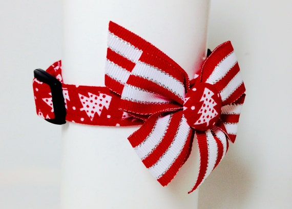 Trees and Tinsel Christmas Collar size Extra Small