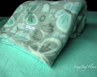 Baby Play Yard Butterfly Bedding Infant PacknPlay Sheet and Butterfly Blanket Set Handmade Fleece Bedding Set for Babies