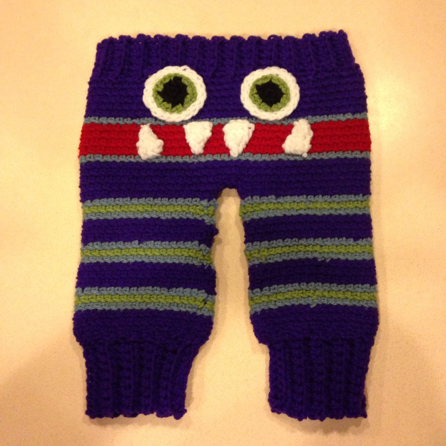 Crochet Pattern Baby Monster Pants : Crochet Baby Monster Pants