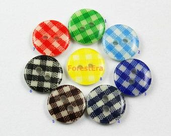 1 Set 195 Pieces 11mm Plastic Buttons Candy Colors Buttons (ZH31)