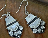 Sterling silver tribal earrings.  hand crafted and forged.  'awakening'