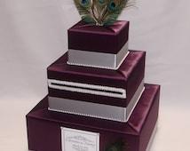 Peacock  theme Wedding Card Box-any colors