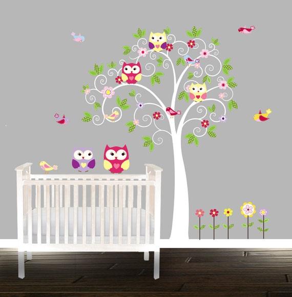 Vous aimer chouette ensemble autocollants de stickers muraux for Autocollant mural arbre