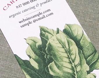 Lettuce, Gardener,Farmer  Business Card - Set of 50