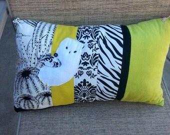 Lovely White Owl Novelty Pillow -Hand Cut Felt - Love With Faith