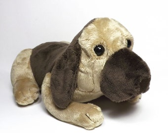 Tan Hound Dog plush toy