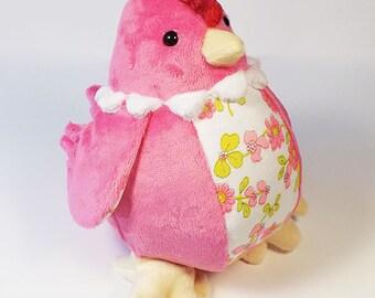 Pink Plush Chicken Toy