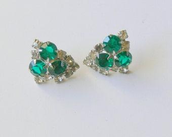 post rhinestone earrings