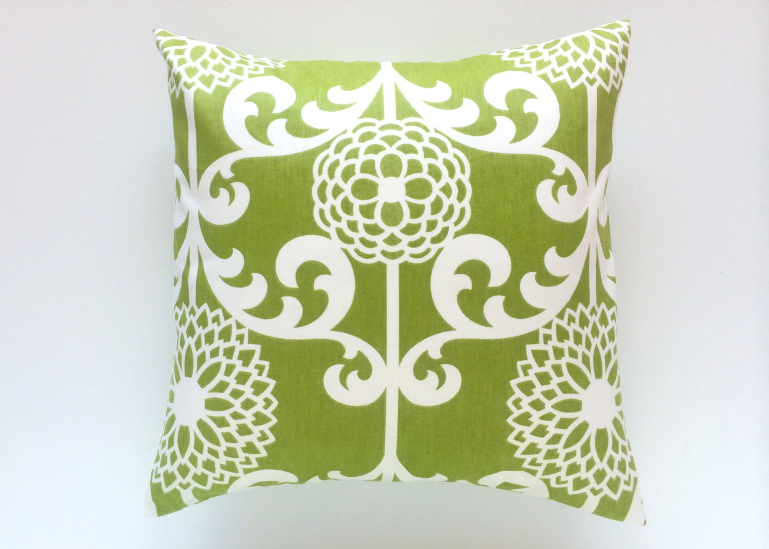 Decorative Throw Pillows Clearance : CLEARANCE Green Floral Decorative Pillow Cover. by thebluebirdshop