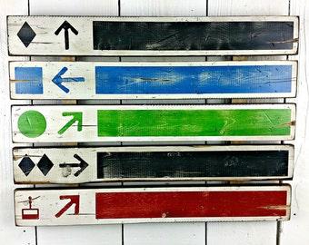 "17"" x 23"" Skiing Slope Sign, Skiing, Ski Lift - Distressed wood sign"