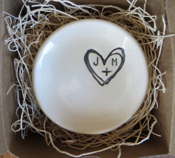 Engagement Ring Holder Ring Dish Wedding Gift By PromisePottery