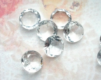 Glass Jewels - 12 Pc. Set of 48ss Crystal Clear