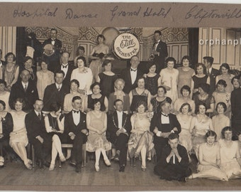 1928 Vintage/ Antique photo of a group of men & women in fancy outfits