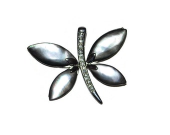 Modern Dragonfly Pendant Abalone Rhinestone Unique Pendant Craft Supplies Jewelry Supplies