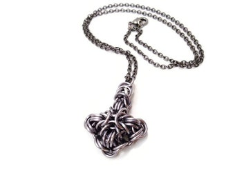 Thor's Hammer Mjolnir Chainmail Necklace