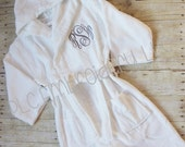 Adult's Embroidered Terry Velour Robe