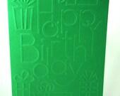 Blank Birthday Cards, Embossed Birthday Card, Happy Birthday Card, 5 x 7 Cards with Envelopes, Birthday Embossed Cards, DIY Birthday Card