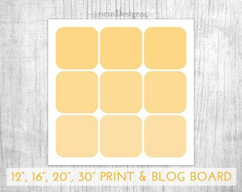 Photo Collage Template, 12x12, 16x16, 20x20 & 30x30 Storyboard for photographers and 900x900px for blog boards, 9 pictures