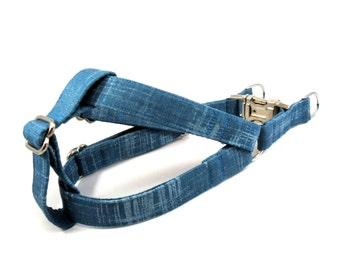 Dog Harness, TURQUOISE, Handmade Dog Harness, Dog Step in Harness, Step in Dog Harness