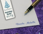 Holiday Sale - A2 - Murray Hill Signature Collection - Personalized Letterpress Note Cards - Boxed Set of 24