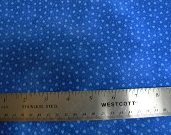 Quilting fabric blue hearts 1 yard
